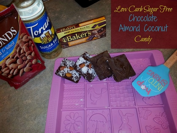 Low Carb Sugar Free Chocolate, Almond, And Coconut Candy!     #dessert #easyrecipe #yummy #chocolate #recipe #food #treat