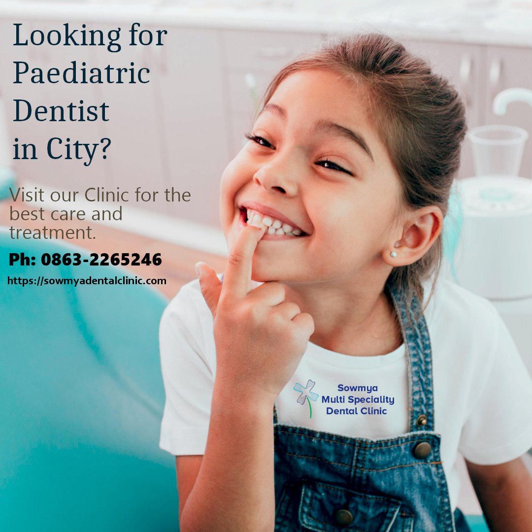 Are you looking for paediatric dentist in city? Visit @sowmyadental  for the best treatment and care.  For appointments, log on to  https://sowmyadentalclinic.com/appointment/  Call:- 0863-2265246.  #toothfillings #toothcoloredfillings #compositefillings #whitefillings #dentalfillings #cavities RTpic.twitter.com/UCvYkIULbx