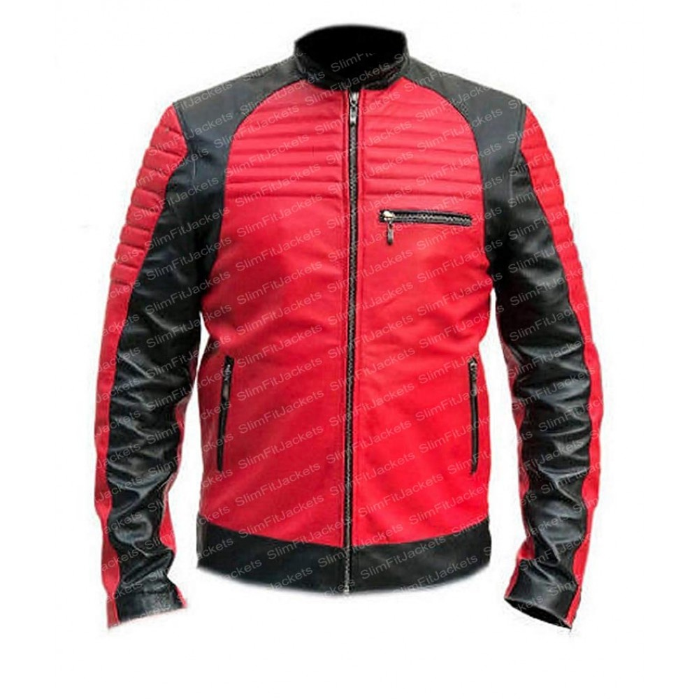 Men Cafe Racer Red and Black Quilted Biker Leather Jacket at Discounted Rates With Free Worldwide Shipping. Visit Here: http://bit.ly/2H3RQ5w  #LeatherJacket #BikerJacket #MensJacket #CafeRacerJacket #RedJacket #SlimFitJacketpic.twitter.com/AG5oWubNfF