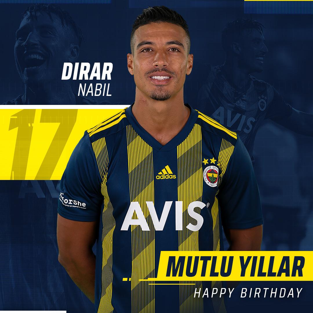 Bugün futbolcumuz Nabil Dirar'ın doğum günü. Mutlu yıllar Dirar! 🎂🎉