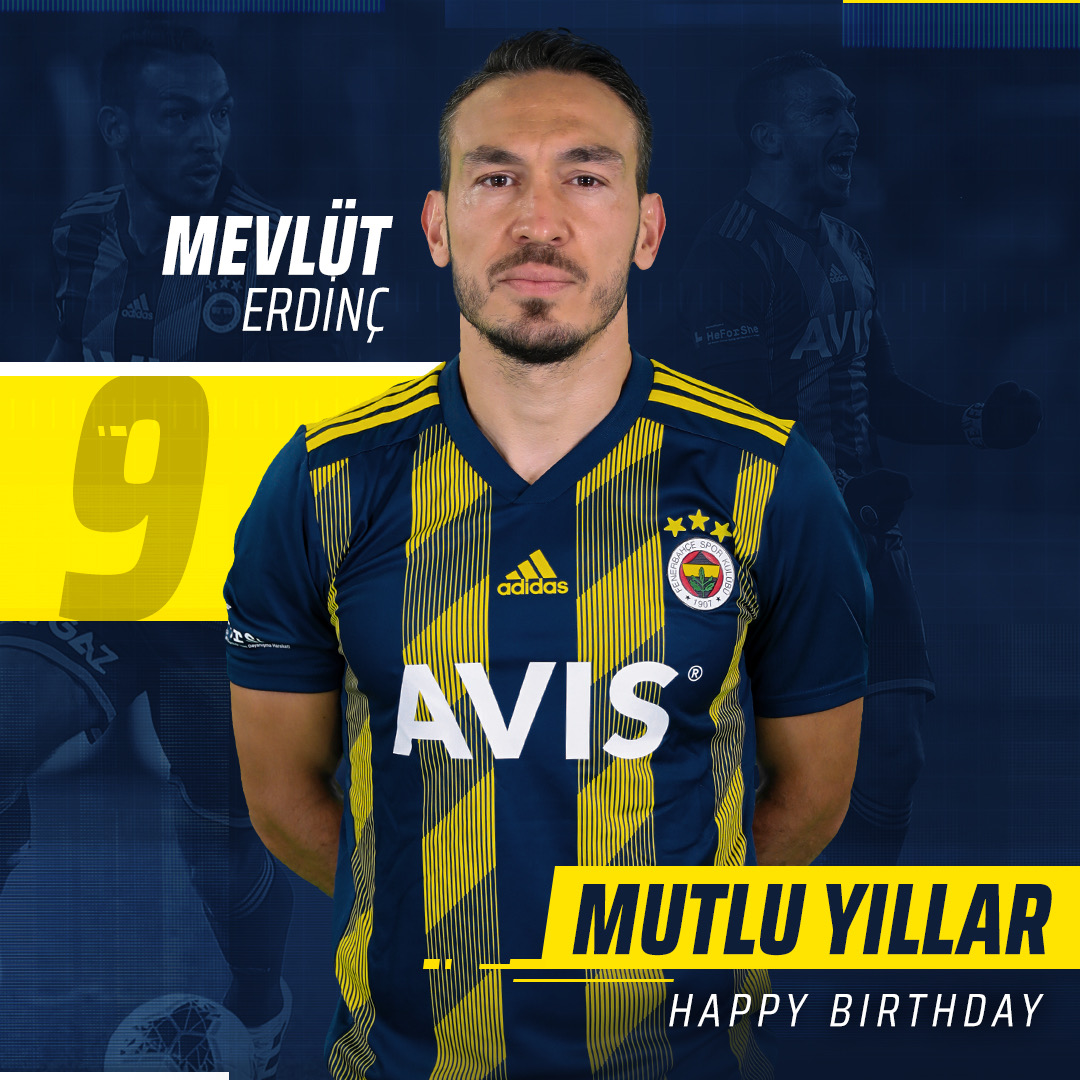 Bugün futbolcumuz Mevlüt Erdinç'in doğum günü. Mutlu yıllar @meverding9! 🎂🎉