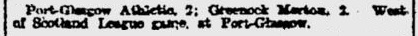 25th February 1905 - Port Glasgow Athletic 2-2 Morton (Glasgow & West of Scotland League)  Opening match, but less column inches as the competition was losing its appeal. The following season would see the last of it.   @Chrismcnulty75 @Morton_FC @PortGlasgowJnrspic.twitter.com/ixLFJh4haB