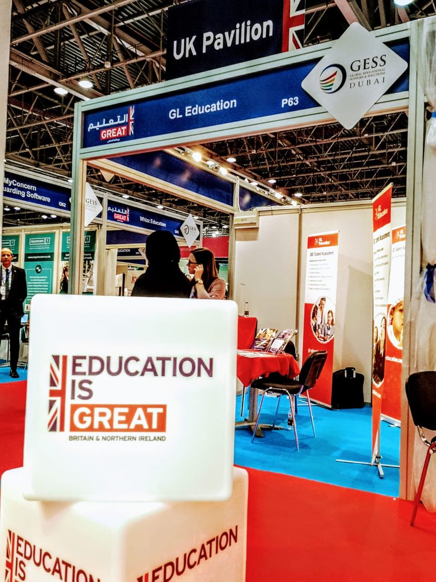 We're at #GESS with lots of companies showing British excellence in education. Visit our pavilion in hall 2 to find out more.