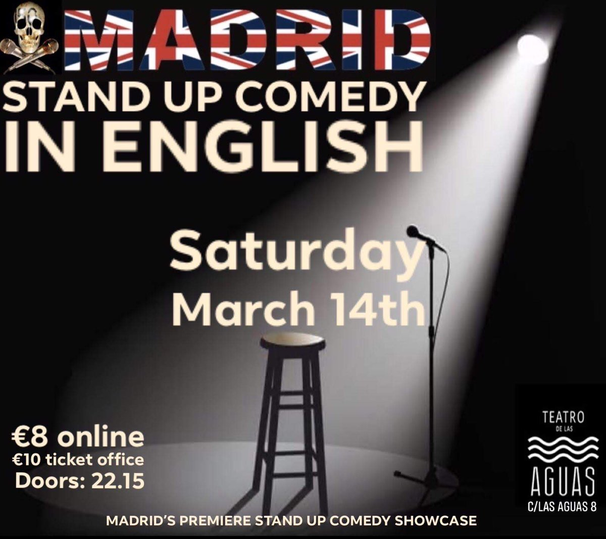 Stand Up Comedy in English  https://ti.to/madrid-stand-up-comedy/Mar14…pic.twitter.com/CX44IvtKCl