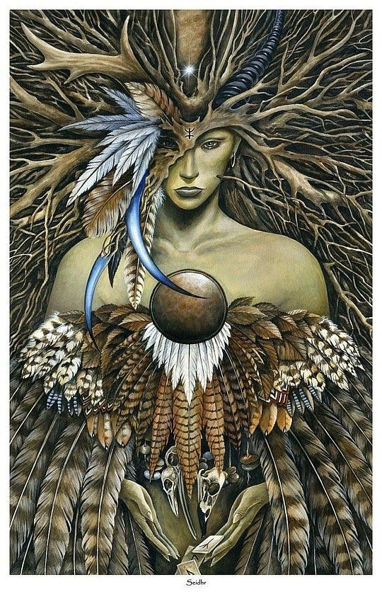 #FairyTaleTuesday In Norse mythology Freyja, the goddess of love & fertility, was a practitioner of magic and shapeshifter. She had a cloak of feather falcons which allowed her to transform into a falcon at will. #folktales #mythology #storytelling  Art: Marc Pottspic.twitter.com/KZETriWjp0