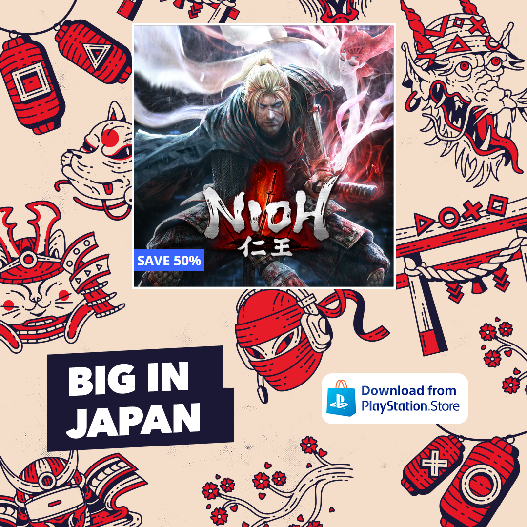 Do you have what it takes to defy death? Nioh is in the #BigInJapan sale, offering the game at a discounted price for a limited time!     #Nioh #KTfamily