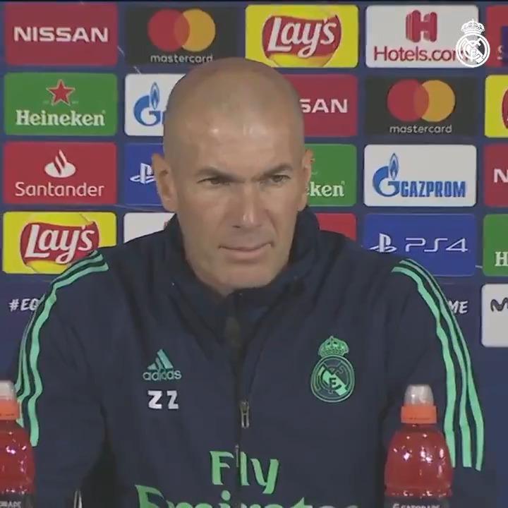 """👔💬 Zidane: """"Queremos que nuestra afición esté orgullosa de nosotros. Vamos a darlo todo por ellos."""" #RMUCL   #RMTV"""