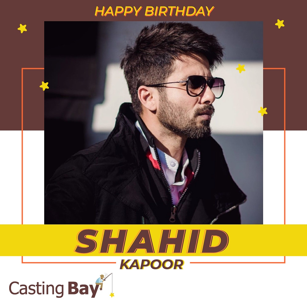 Wishing a very happy birthday to the versatile actor @shahidkapoor  #birthday #bollywoodbirthday #actorbirthday #bollywood  #shahidkapoor #shahidbirthday #happybirthday  #happybirthdayshahidkapoor #bollywoodfilms #Casting #CastingBaypic.twitter.com/fGTOWJ0hRr