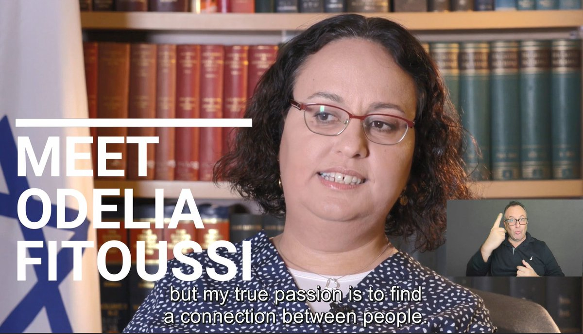 """📢""""Don't be afraid to bring your uniqueness"""" is Odelia Fitoussi's message to the world.  🇮🇱Odelia is Israel's candidate for the #CRPD. As a UN Expert to the Committee, she will passionately promote & advance the rights of ppl with #disabilities around the world. 🔄WATCH 