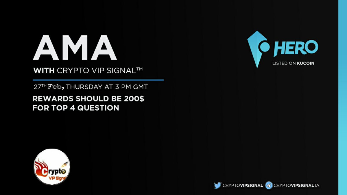 Dear HEROes we will go live together with VIP signal! Join and Ask us anything u like! Looking forward to e-meet yall! @CrptoVIPSignal