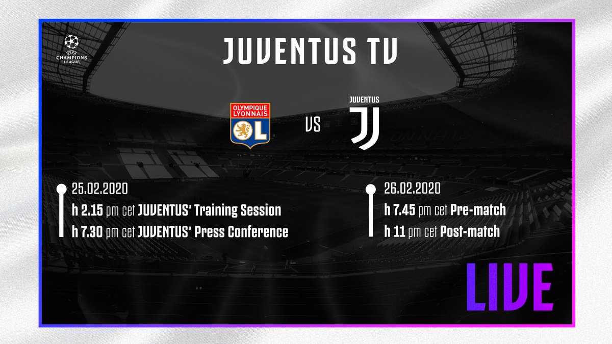 🌟 Let's just live it on @JuventusTV!   The #JuveUCL show gets underway from 14:15 CET ⏰  Don't miss all the #OLJuve build-up & post-match 🔛  http://tv.juventus.com/en