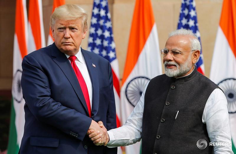 After raucous welcome in India, U.S. President Donald Trump says making progress on trade, energy and arms deals https://reut.rs/2TedCte  via @steveholland1 @sanjeevmiglani