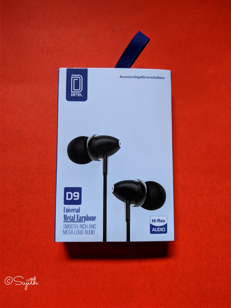 Got It 🙂👍 D9 Universal Metal Earphone (High Res Audio) Thank You So much @IndiaDetel & Thank you so much @india4contests 💙🙏💙