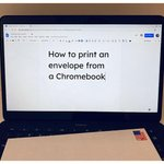 Image for the Tweet beginning: How to print an envelope