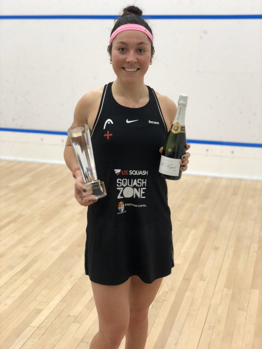 test Twitter Media - That winning feeling, @itssobhytime 🏆  The US No.1 has beaten @SJPerry15 in Cincinnati to win the Gaynor Cup - her first PSA title since March 2019 💪  #squash https://t.co/NcT3q0a0Md