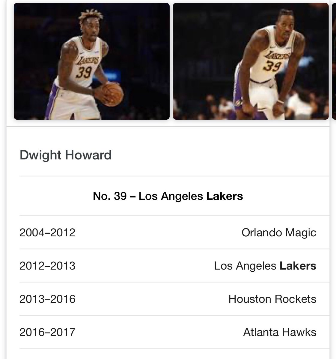 Nope he tore it in 2013 my guy. Dwight Howard was on the team and as you can see in the pic it was the 2012-2013 nba seasonpic.twitter.com/uc7Q0TOUp7