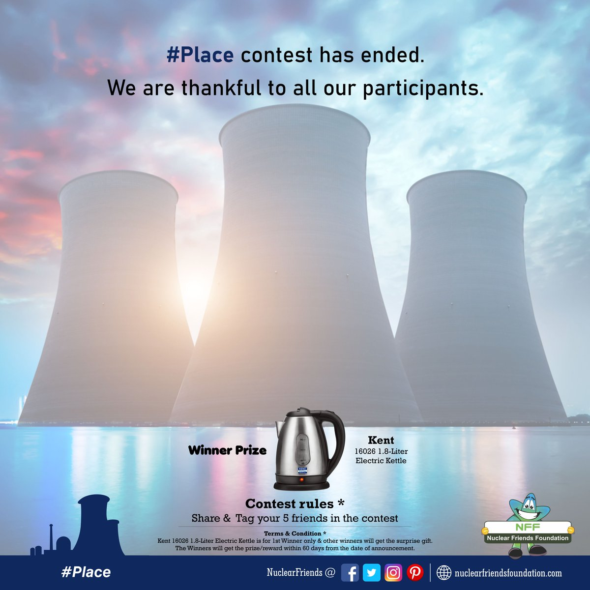 #ContestAlert #Place contest has ended. We are thankful to all our participants.  Reach us @ http://nuclearfriendsfoundation.com  #Contest #like #RT #comment #chance #Win #prizes #Today #goodluck #giveaway #competition #ContestEntry #entertowin #giveaways #WednesdayWisdom @india4contests