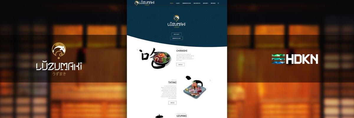 Création d'un site web eCommerce pour cet artisan sushi. Gestion de livraison à domicile avec zone desservis, paiement en ligne.   Luzumaki x HDKN  #WebDesign #Sushi #Restaurant #AsianStyle #eCommerce #Website  http://www.Luzumaki.net http://www.HDKN.frpic.twitter.com/WOaDnVuA4g