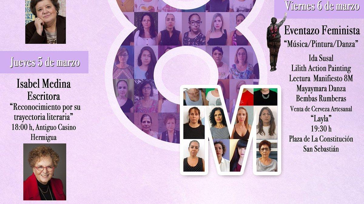 """El """"Eventazo Feminista"""" y la conferencia de Cristina Almeida centran el programa del 8M en La Gomera"""