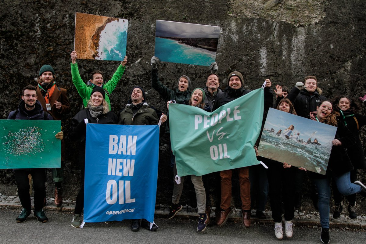 Amazing to hear that Equinor will NOT drill the Australian Bight! Thank you to everybody in Australia for your hard work  We're a happy bunch here at Greenpeace Norway today!  #fightforthebight<br>http://pic.twitter.com/QNuhOXA708
