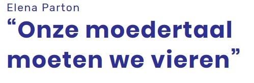Akkoord! Maar dan wel énkel in je eigen #thuisland van #oorsprong! In #Vlaanderen graag alleen #Nederlands!  #moedertaal #thuistaal   #d20200225 #h113940 #499x163