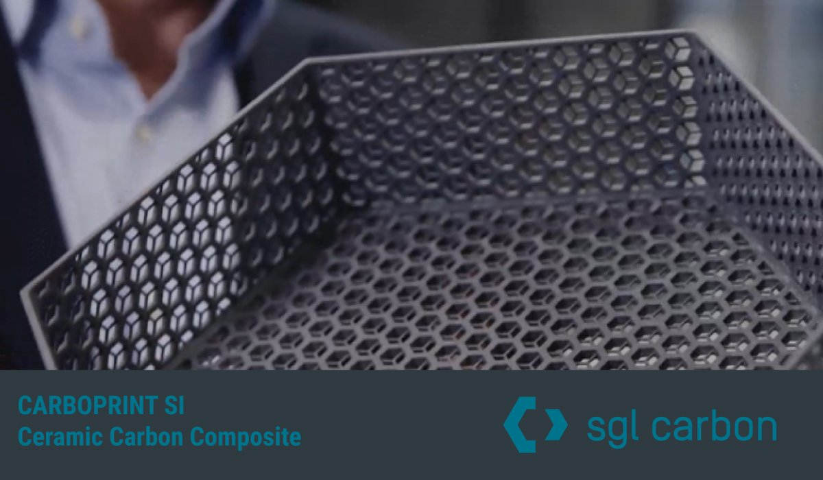 Thank you to SGL Carbon! They are one of several ExOne customer-partners that have assisted us in qualifying new materials. SGL is also #binderjetting its own proprietary materials, such as CARBOPRINT SI, shown below, a ceramic Carbon composite. #materialscience #binderjettingpic.twitter.com/q5VdsN3CKi