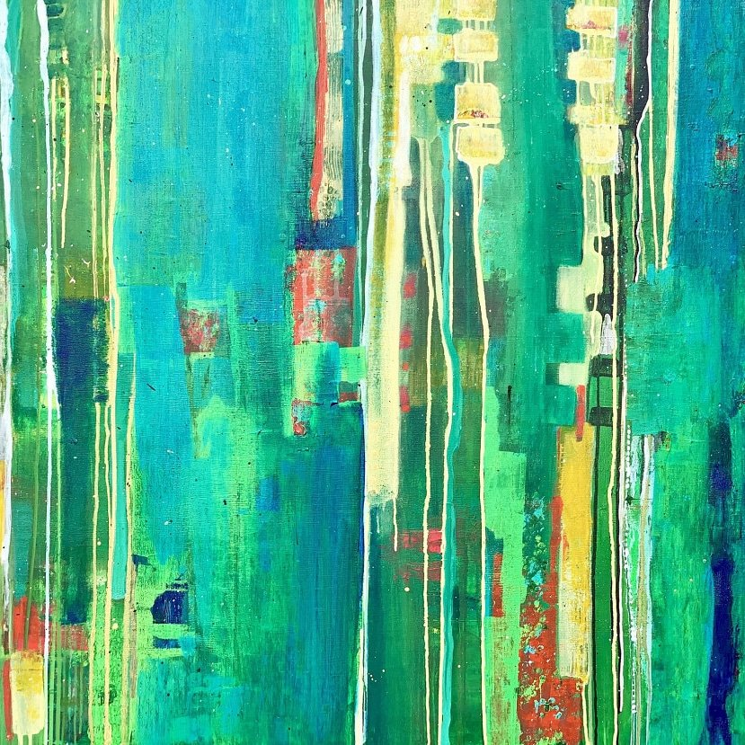 #newpainting  Soothing Green | Artist Nandini Verma.  Acrylic on Canvas | 48 X 42 Inches | Rs. 2,00,000.  Explore on http://www.bestcollegeart.com .  #originalart #contemporaryart #artoftheday #artforsale #abstractpainting  #artcollectors #buyartonlinepic.twitter.com/jpptH39Q1r