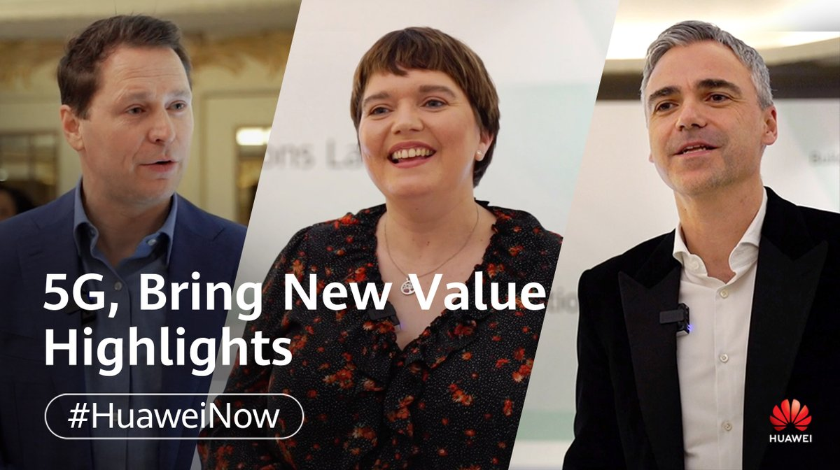 Image for the Tweet beginning: The #5GBringNewValue event covered many