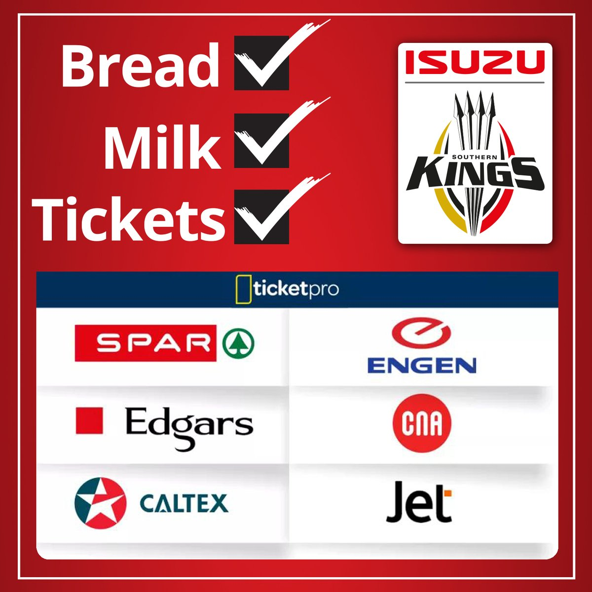 We hear it's pay day for some of you... Why not spoil yourself and your family or friends by joining us for our #SundayFunDay as we take on @connachtrugby this Sunday.  Tickets available at these @TicketProSA outlets, @NMB_Stadium ticket office or online: http://ow.ly/xUoT50yudLw