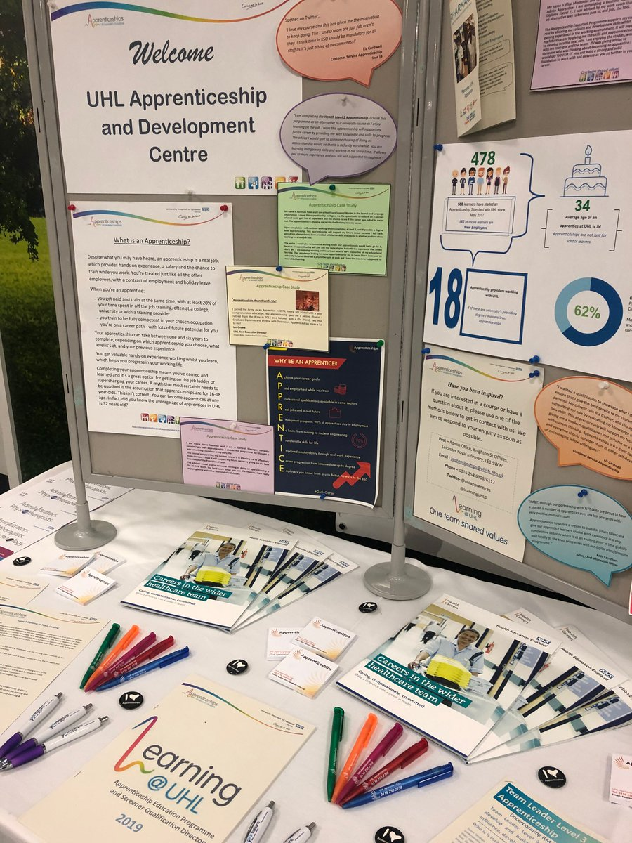 We are here at the Tigers holding a stall as part of the event organised by @LeicResearch. Are you there too? Visit Kate at the #Apprenticeship stall and find out what we are about! Maybe enrol onto an apprenticeship..? #LRLive20