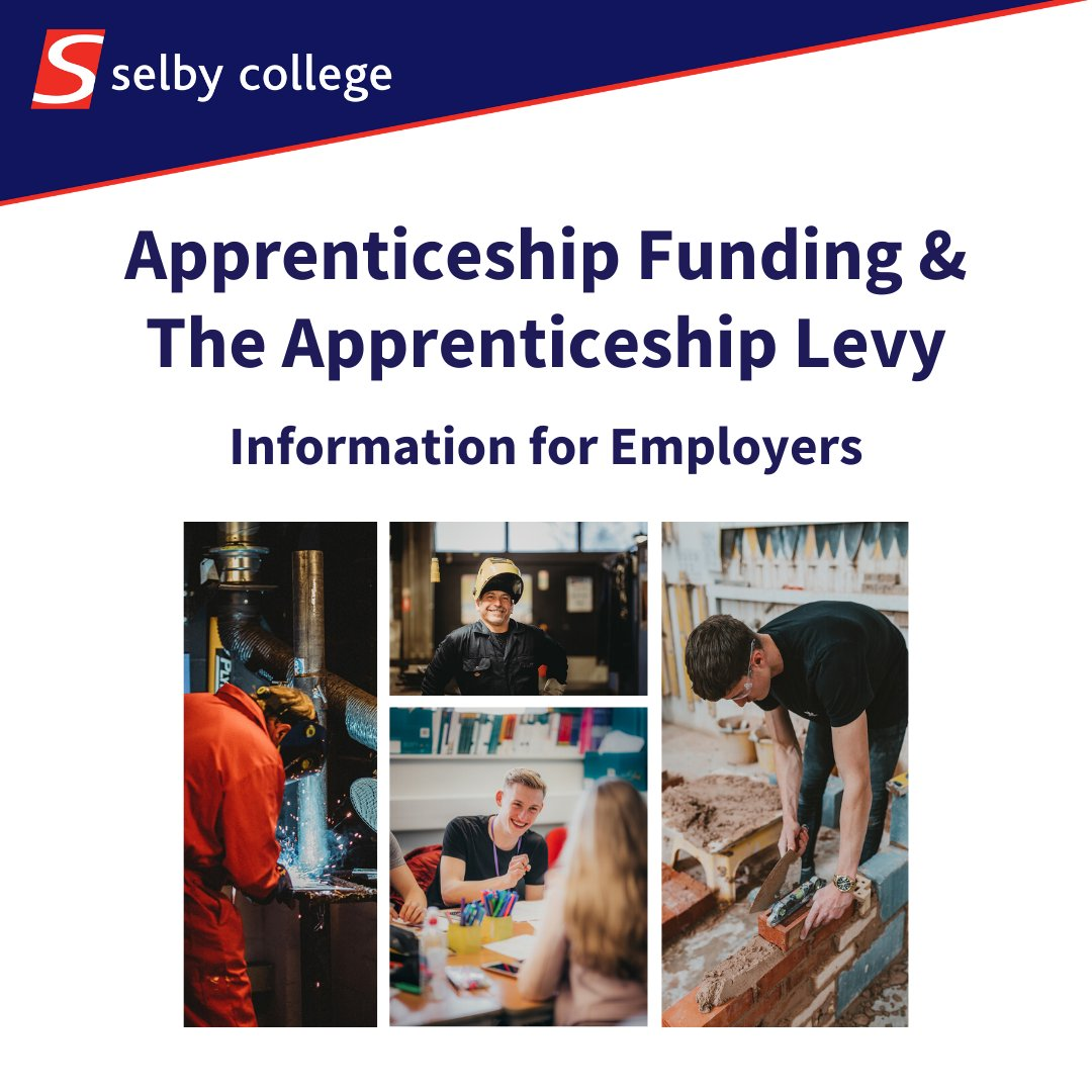 Funding of Apprenticeship training may seem complex, so we have put together a handy guide to support employers…  Download it here: https://tinyurl.com/s4leme7  #Apprenticeship #Levy #SelbyCollege