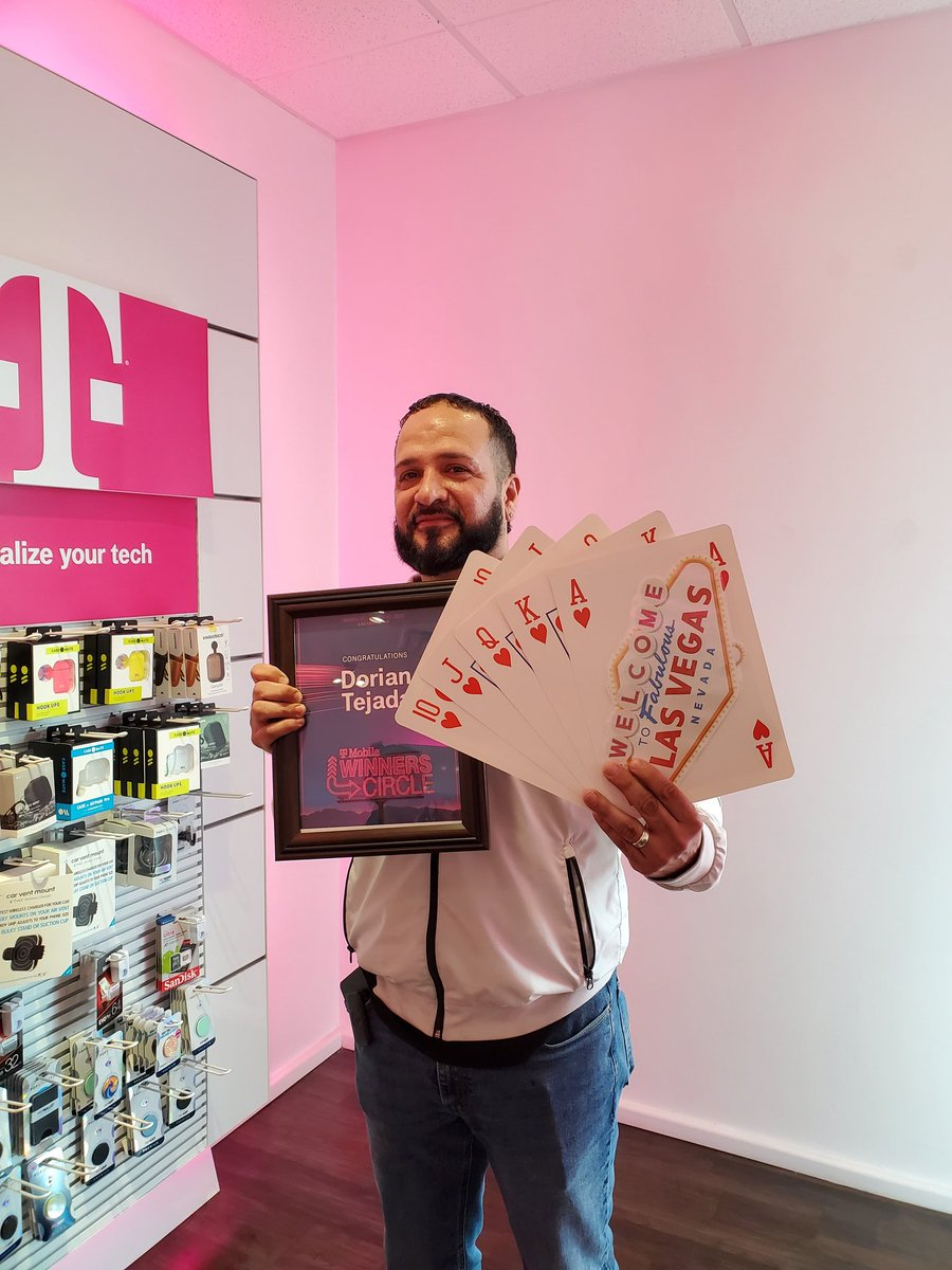 @JonFreier @JonFreier Representing Miami East, Dorian Tejada our sales beast will be in Vegas! He has not even reached his 2 year anniversary at T-Mobile...talk about setting the bar high!!🎲🎲