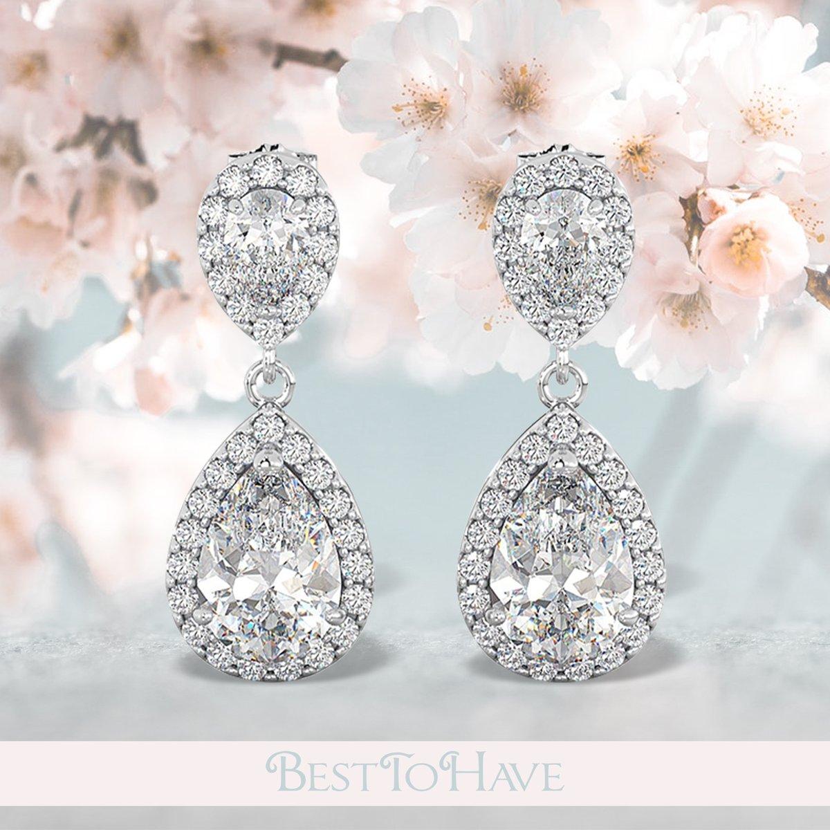 Sterling Silver Bridal Drop Earrings  Code: 220 £24.99  Shop more: https://www.besttohave.com/   #womenearrings #weddingearrings #lovejewelry #silverjewelry #sterlingsilver #cubiczirconia #fashion #glamorous #besttohave #besttohavejewelry #gift #present #silverearrings #zirconiapic.twitter.com/6qERCwkoqj