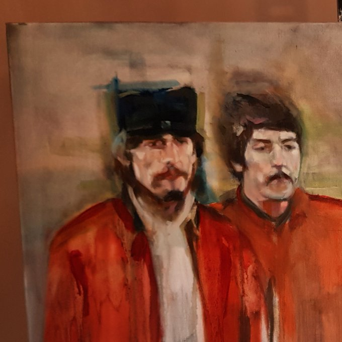Happy Birthday George Harrison! Few pics of a recently started commission