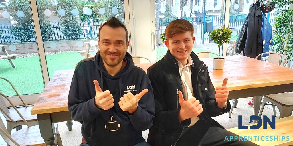 Congratulations to Cameron who popped into LDN HQ to meet his new Skills Coach before starting his #apprenticeship with @WarnerBrosUK as their new Administrator #Apprentice!🎉  Find out more about hiring an apprentice our website here: https://ldnapprenticeships.com/employers/  #Apprenticeships