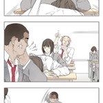 なにやってんの授業中で紙片を渡すだけのつもりが、全員が先生に怒られしまう。