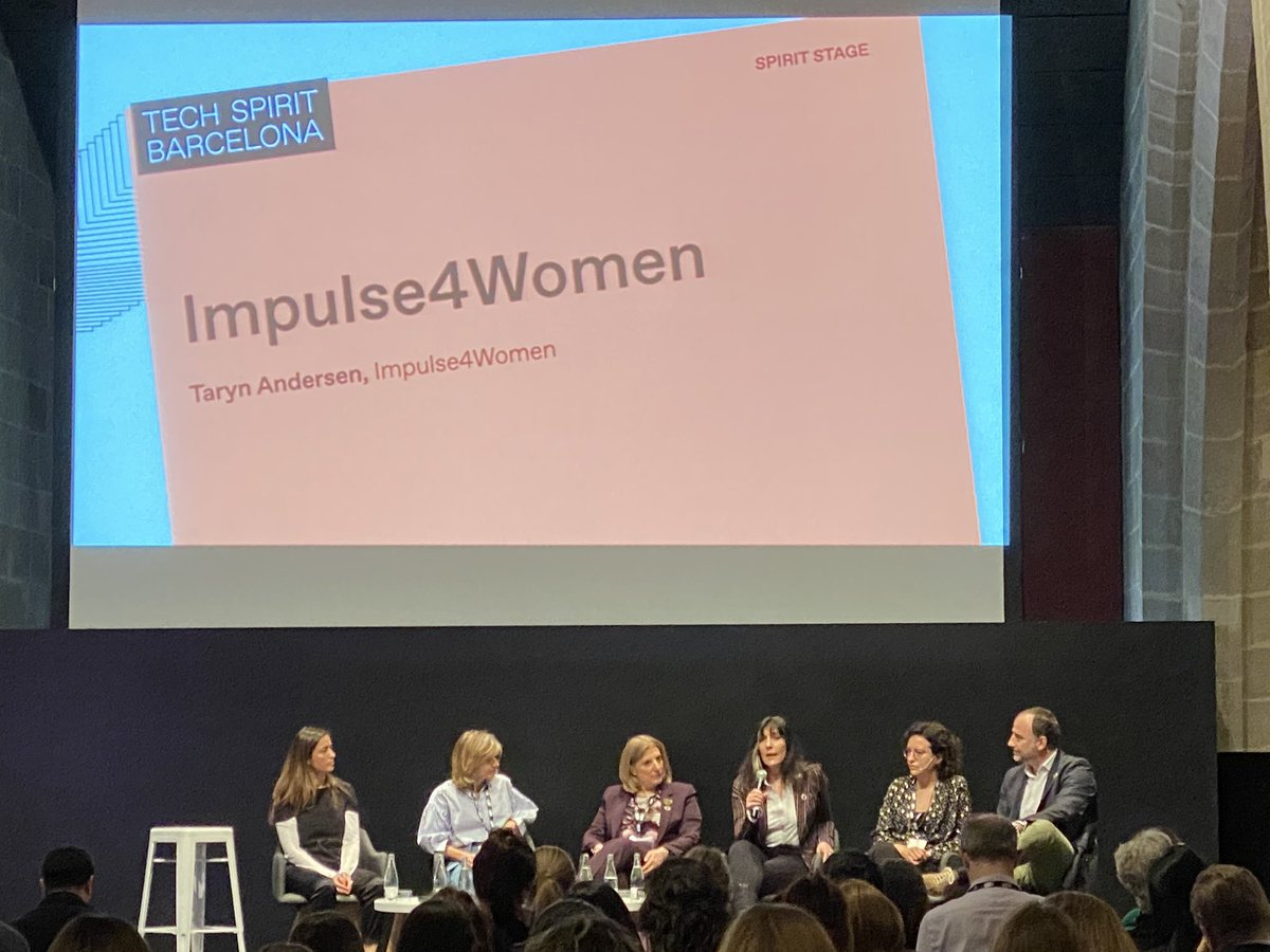 """if we want more women entrepreneurs, we need more investors en women entrepreurs"" 👏👏👏 I absolutely agree!!! #Impulse4Women, debate session with women innovation leaders at #TechSpiritBarcelona"