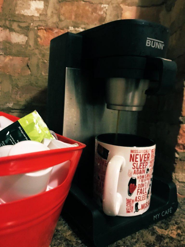 Still my favorite gadget, with my $1 K-Cup solution #bunn #bunnmcu #dollartree #coffee #nightmareonelmstreet #greenmountain #pumpkinspice