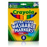 76% Off!!!   Crayola Ultra-Clean Washable Markers, Broad Line, 8 Count  https://t.co/VEL6nTi6Vc  #BwcDeals #stealsanddeals #dailydeals #crayola