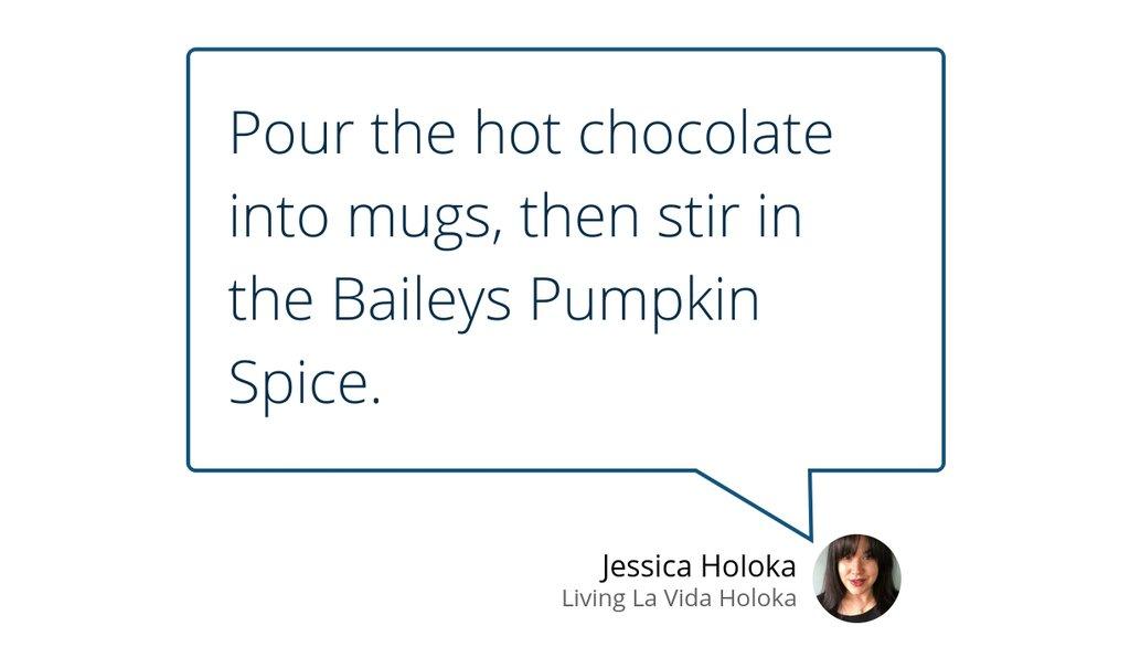 Spiked Pumpkin Spice Hot Chocolate  #Recipe #PumpkinSpice #HotChocolate