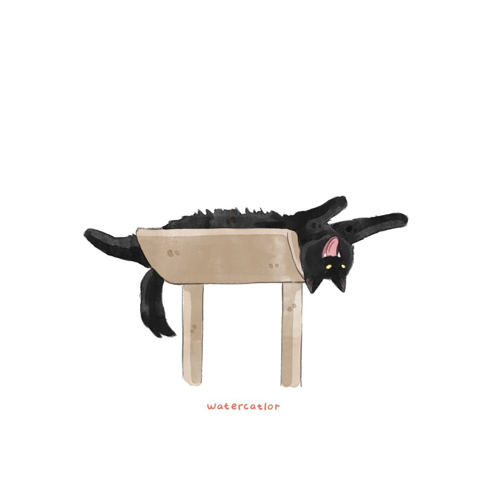 He stuck upside down  . photo credit: unknown #angrycatto #illustration #doodle #meowed #9gagmeowdle #cat #kitty #watercatlor #9gagcute #9gag #catsareliquid #catmemes #catsofinstagram #kitty #kitten #catsareliquid #catlady #chonky #chonkycattospic.twitter.com/R7VmauhZOm