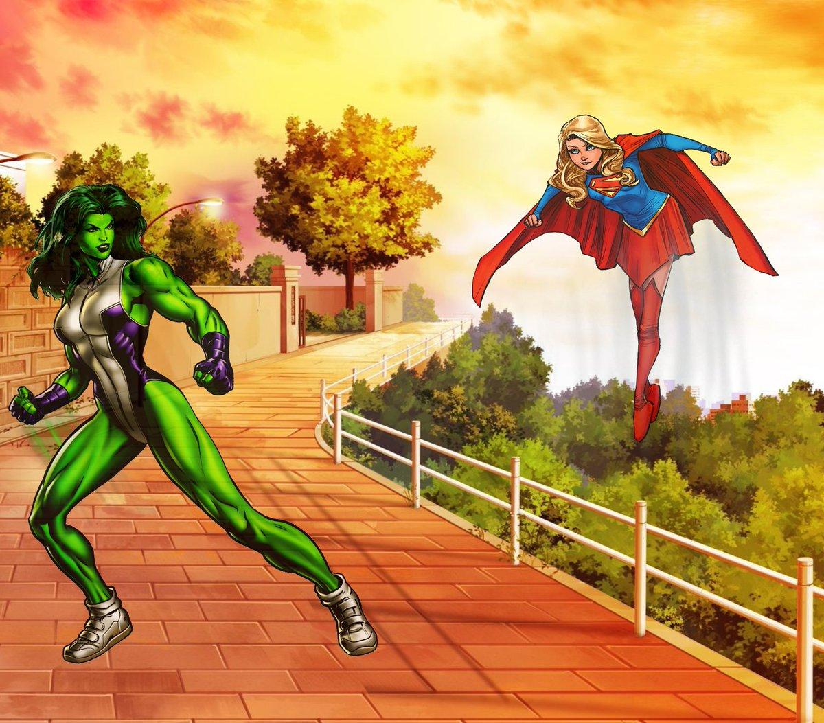 She-Hulk vs Supergirl (Marvel vs DC) literally some heavy hitters!  @DEATHBATTLE #deathbattle #deathbattlecast #marvel #marveluniverse #MCU #DCU #dccomics #cw #SheHulk #Supergirlpic.twitter.com/uBxKwjnHcm