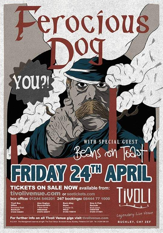 ** FINAL LINE UP **  Opener - Jake Martin  Direct support - Beans on Toast Headliner - @FerociousDog   More info can be found on the link below  http://tivolivenue.com/events/ferocious-dog/…pic.twitter.com/ILNRFP47QM