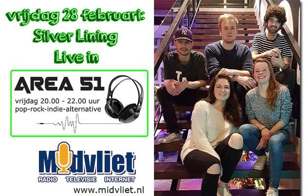 Dutch #Area51 Silver Lining #live #Friday #Livestream http://www.midvliet.nl #radio  #indie #pop #rock #alternative #Nederlands