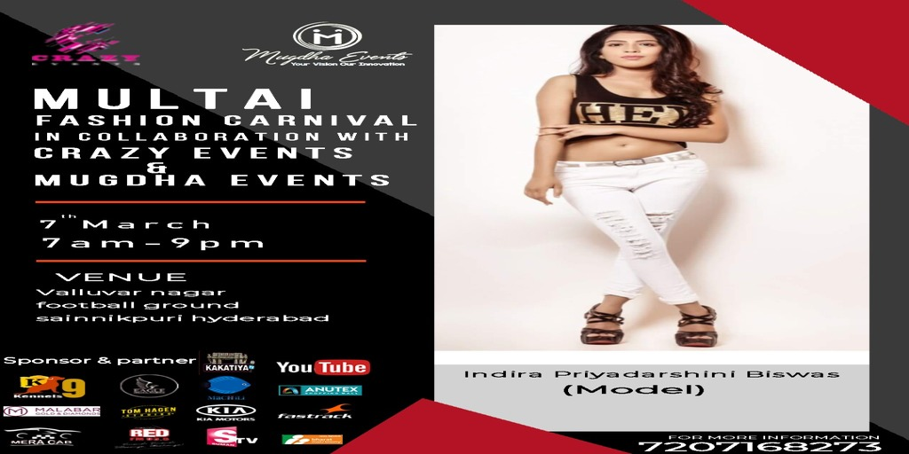 MULTAI FASHION CARNIVAL on 7Th March 2020  For more details, can contact 7207168273  #fashioncarnival #mfc #multaifashioncarnival #mugdhaevents #fashionshow #fashionweek #models #rampwalk#hyderabadfashion #fashioncarnival1 #multaistudios #indirapriyadarshinibiswaspic.twitter.com/H8O1gjBYYQ