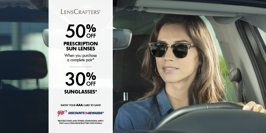 Use your #AAADiscounts @LensCrafters to save on your eyewear purchase. Learn more at .