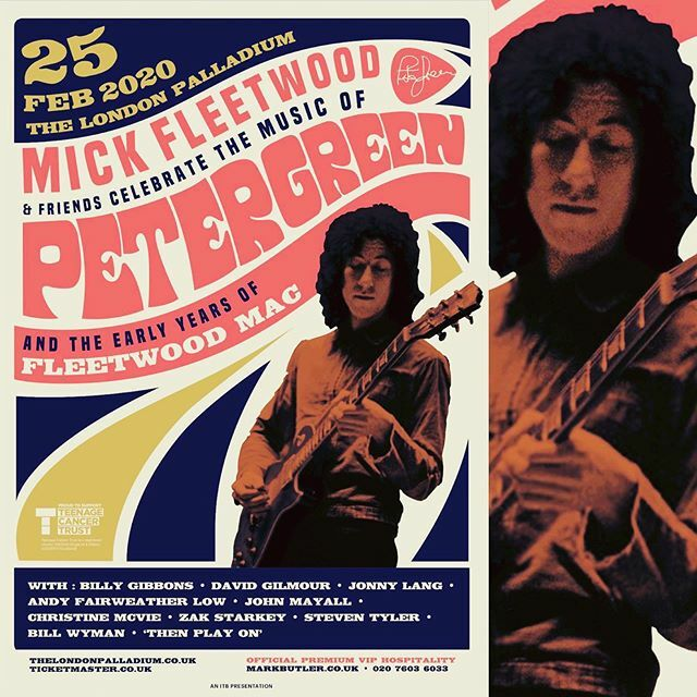 Blues Today | Mick Fleetwood & Friends Celebrate The Music Of Peter Green And The Early Years Of Fleetwood Mac -  25 February @ The London Palladium.  #petergreen #fleetwoodmac #mickfleetwood #london #palladium #bluestoday #billygibbons #davidgilmour #jonnylang #johnmayall #…<br>http://pic.twitter.com/1TQ028x9wH