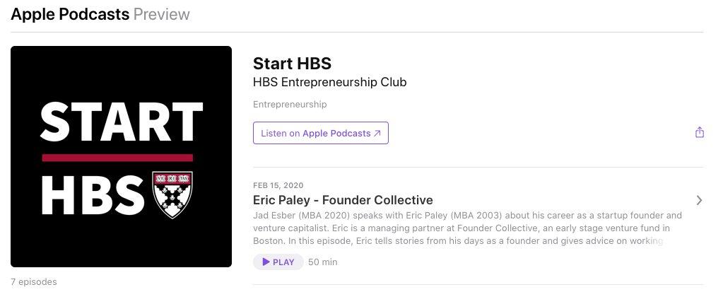 Start HBS on Apple Podcasts