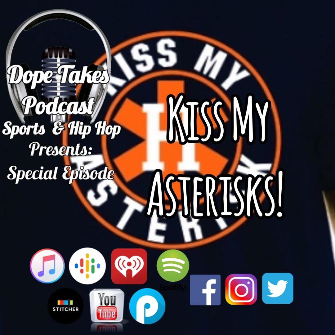 If you haven't yet checked out the latest #podcast, well what the hell are you waiting for?! Stream it now on iTunes, iheartradio etc & follow @dopetakes  We're roasting the hated .@astros #nbaallstarweekend & much more.. #TuesdayMotivation #Astros #MLB #hiphop