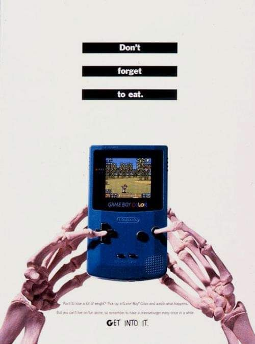 Gameboy Color Ad  #photography #yeolde #ad #gameboy